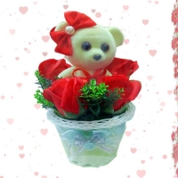 Gift basket with bear