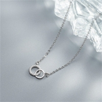 925 Sterling Silver Necklace - Double Loops