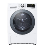 Clothes dryer, 9 kg, white from LG