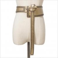 A distinctive leather women belt