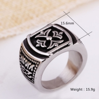 Mens ring distinctive - of stainless steel