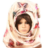 Shawl lady beautiful  contain inscriptions butterflies