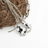 Necklace best friend - football