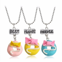 Best Friend Necklace - Cute Donuts