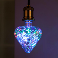 Heart lamp - changes to several colors
