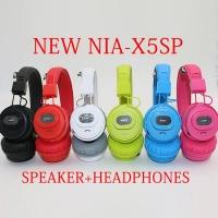 NIA X5SP Headset Wireless 5 in 1 Bluetooth