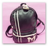 School bag leather quilted