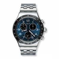 Boxengasse Chronograph Blue Dial Stainless Steel Men s Watch