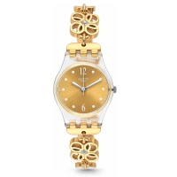 SWATCH 2017: Coup De Fleur Gold Tone Dial Ladies Watch