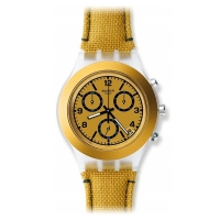 SWATCH Mustardy Chronograph Plastic Men s Watch SVCK4069