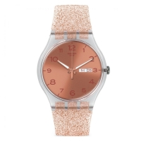 SWATCH NEW GENT - PINK GLISTAR WATCH SUOK703
