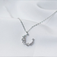 925 Sterling Silver Pendant - Crescent
