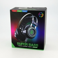 Games headsets Wired stereo V2 with lighting and mic SUPER BASS