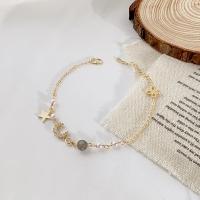 Women's 925 silver bracelet with golden color