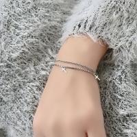 Cross shape 925 silver bracelet