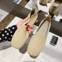 Beige flat shoes for women