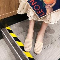 Flat beige women shoes