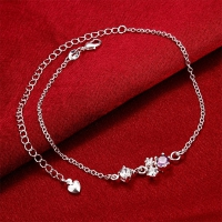 Anklet silver plated four colors