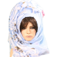 Shawl lady beautiful contain inscriptions  flowers