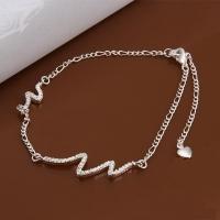 Silver anklet - bends