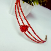 Hair red ring of wedding accessories