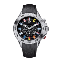 NST Black Dial Chronograph Resin Men's Watch
