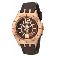 Swatch Men's Irony YTG400 Brown Leather Swiss Quartz Watch with Brown Dial