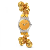 Swatch Women s  LK349G Gold Stainless-Steel