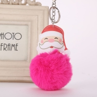 Santa Claus key chain with fur