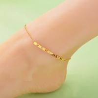 Women s anklet Roman numerals - titanium