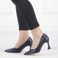 Women shoes in dark blue color