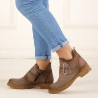 Women boots beige color