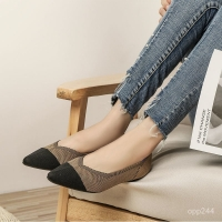 Brown flat shoes for women