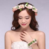 Flower crown with bracelet for bride bridesmaids