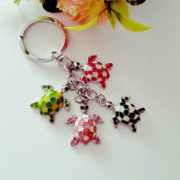 Keychain - beautiful turtles