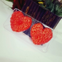 Heart candle scented two pieces
