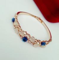 Gold plated bracelet Czechoslovakia luxury crystal, agate
