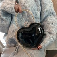 Women s Handbag Metallic Leather Heart Shape