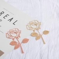 Comma book flower rose