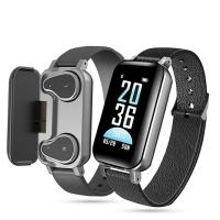 Lemfo T89  Smart Bracelet with Bluetooth Headset - Black