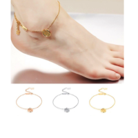 Anklet gold-plated