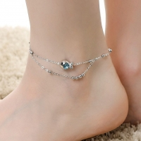Anklet fish - gold-plated / silver