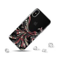 Cover IPhone x transparent with distinctive engravings kingxbar