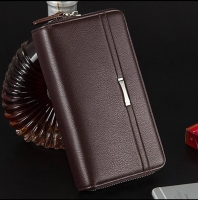 Luxury design men's leather handbag