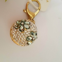 chain Key - inlaid stone Rhine - crystal ball