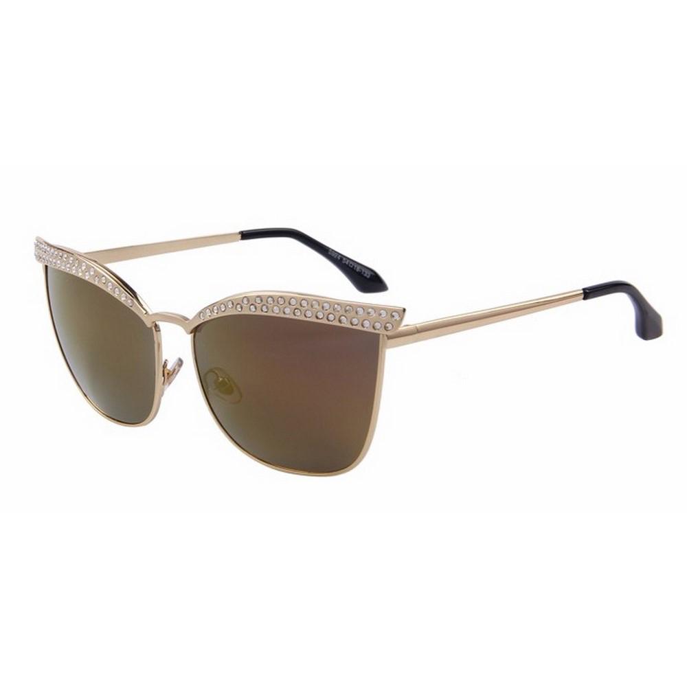 45d6809e7 نظارات ماريستور الشمسيه بستايل عين القطه بالكريستال للنساء (بني)